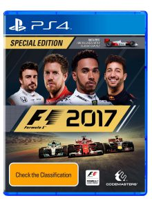 F1 2017 Australian box art PS4