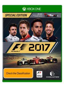 F1 2017 Australian box art Xbox
